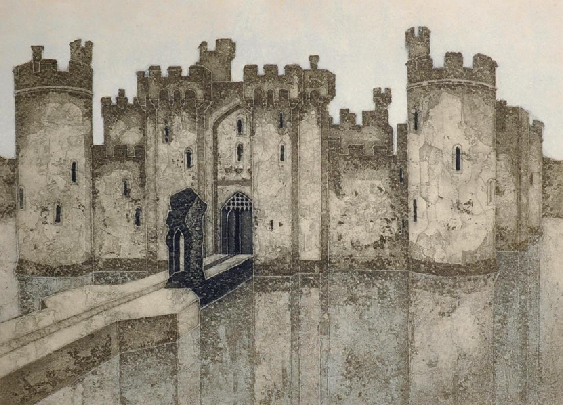"Valerie Thornton (1931-1991) British. ""Bodiam Castle"