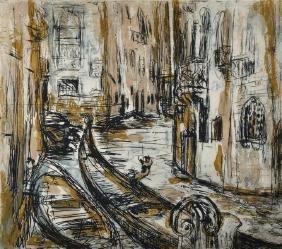 """Margaret Kroch-Frishman (1897-1972) German. """"Gondola"""