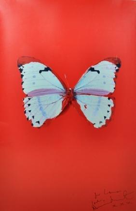"""Damien Hirst (1965- ) British. """"untitled (red"""