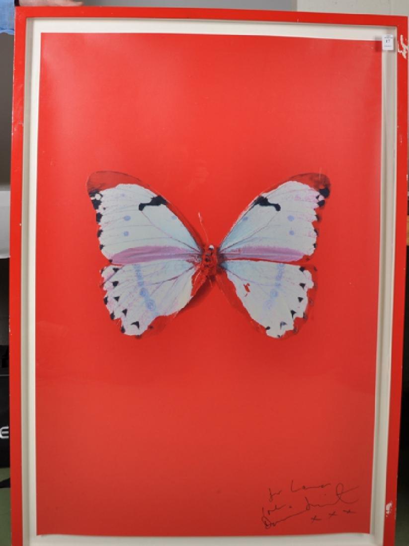 """Damien Hirst (1965-    ) British. """"Untitled (Red - 2"""