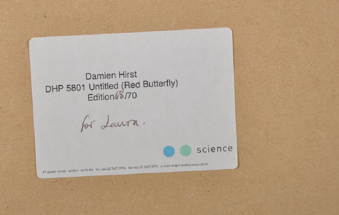 """Damien Hirst (1965-    ) British. """"Untitled (Red - 4"""