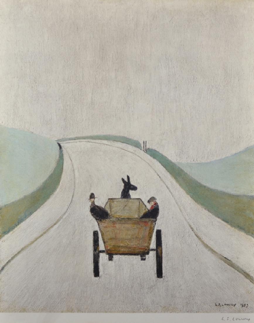 "Laurence Stephen Lowry (1887-1976) British. ""The Cart"","
