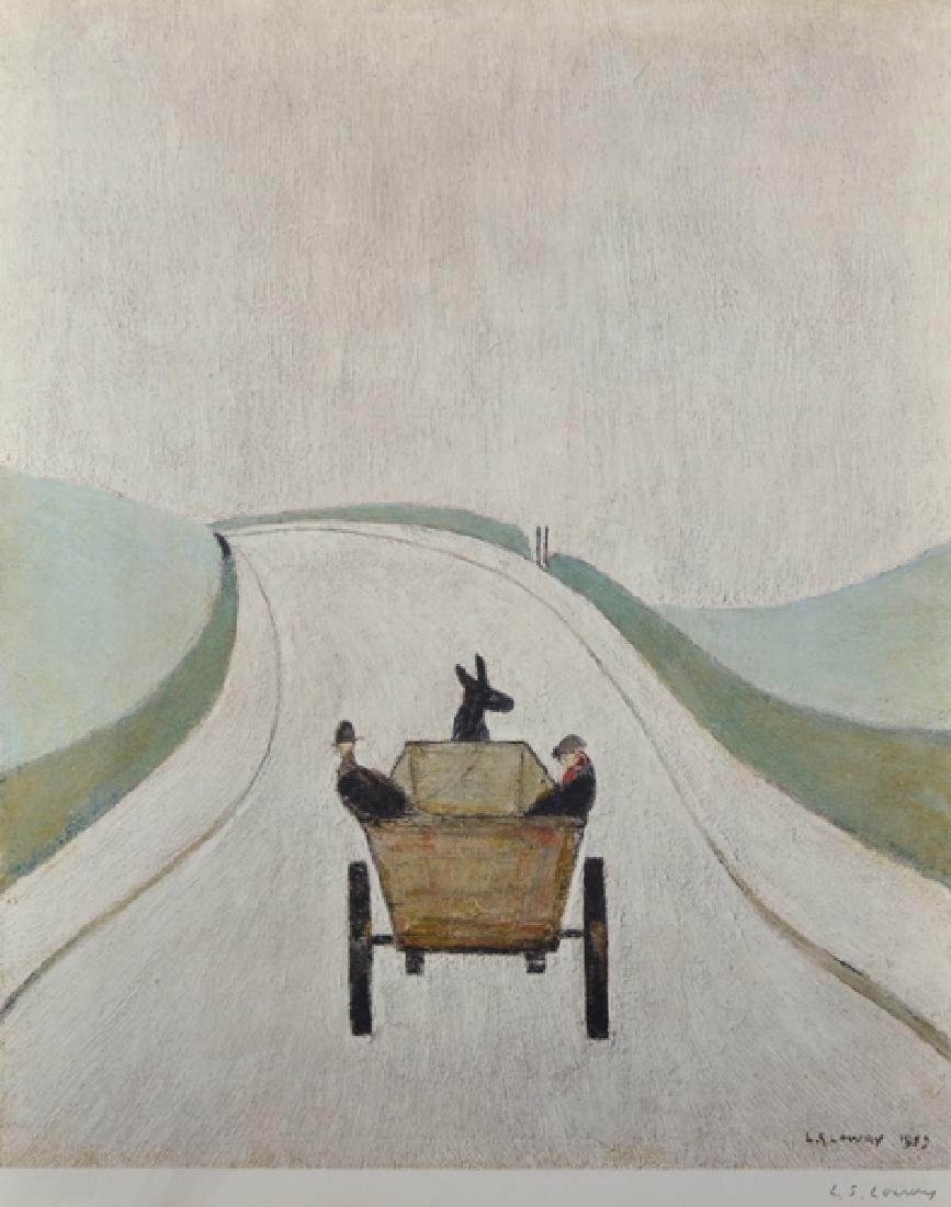 "Laurence Stephen Lowry (1887-1976) British. ""The Cart"","