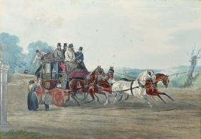 "C... Clark (19th Century) British. ""Dover, London Mail"
