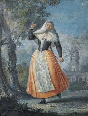 Early 19th Century Dutch School. A Girl Standing in a