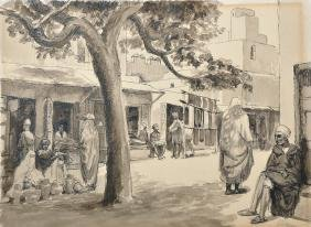 O... Seguin (20th Century) French. An Arab Street