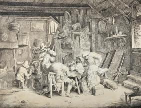 After David Teniers (1610-1690) Flemish. A Tavern
