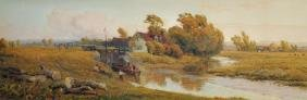 "Robert Thorne Waite (1842-1935) British. ""Evening on"