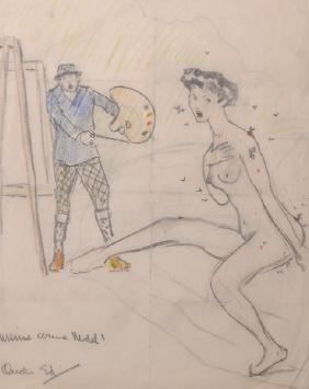 Edward Alfred Cucuel (1875-1954) American. An Artist