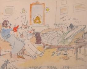 "Edward Alfred Cucuel (1875-1954) American. ""Merrie Xmas"