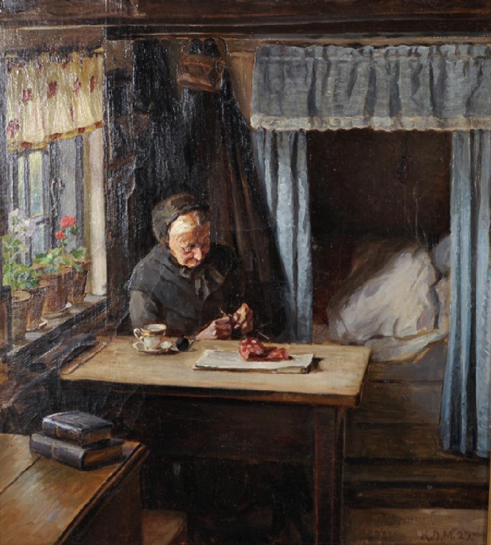 K... D... Mygind (1877-1950) Danish. 'The Artist's