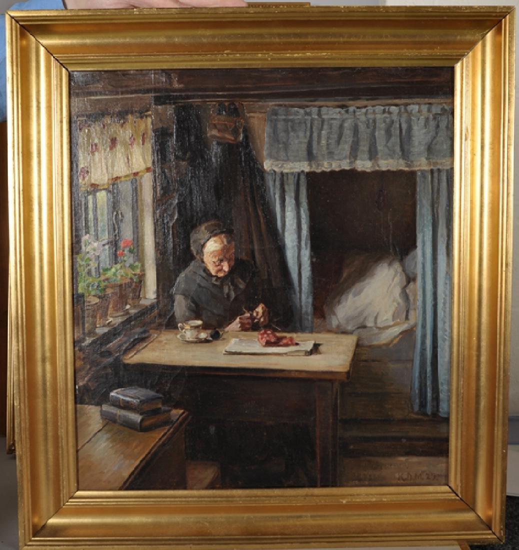 K... D... Mygind (1877-1950) Danish. 'The Artist's - 2