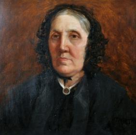 19th Century English School. Portrait of a Lady, Oil on