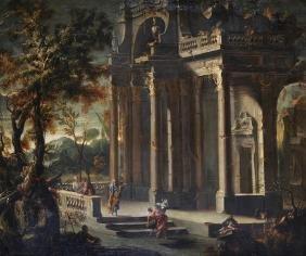 Viviano Codazzi (1604-1670) Italian. A Classical Scene,