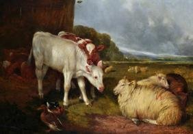 William Henry Watson (1831-1921) British. 'Farmyard