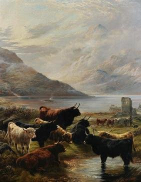 Robert Watson (1865-1916) British. A Highland River
