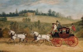 James Pollard (1792-1867) British. 'The Norwich and