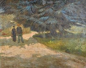 Miguel Canals (1925-1995) Spanish. Figures on a Path,