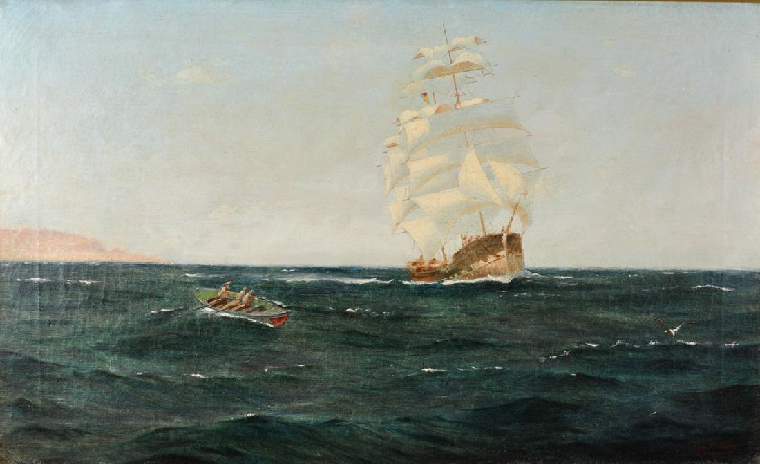 Sydney Phillips (19th Century) British. A Clipper in
