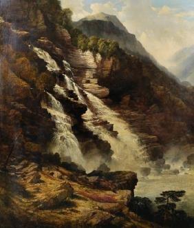 John Brandon Smith (1848-1884) British. A Mountainous