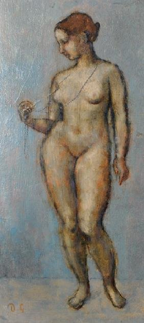 20th Century English School. A Stand Female Nude,