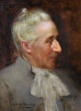 Edwin Harris (1855-1906) British. Head of a Man, with