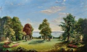 Albert Durer Lucas (1828-1918) British. 'The Gardens at