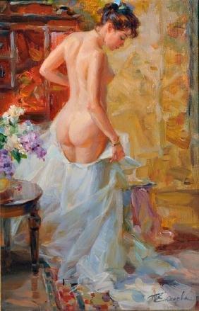 Tatyana Yenikeyeva (1968-    ) Russian. Interior Scene,