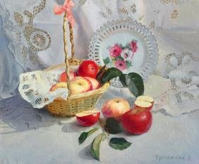 Elena Iermokhina (1974-   ) Russian. Still Life of