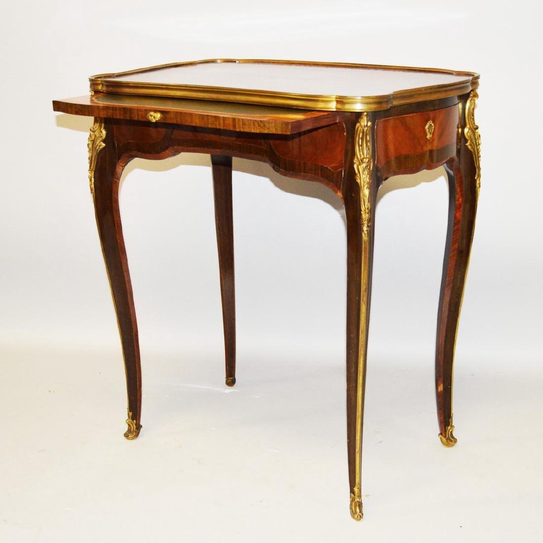 A GOOD 19TH CENTURY FRENCH LINKE MODEL SHAPED KINGWOOD