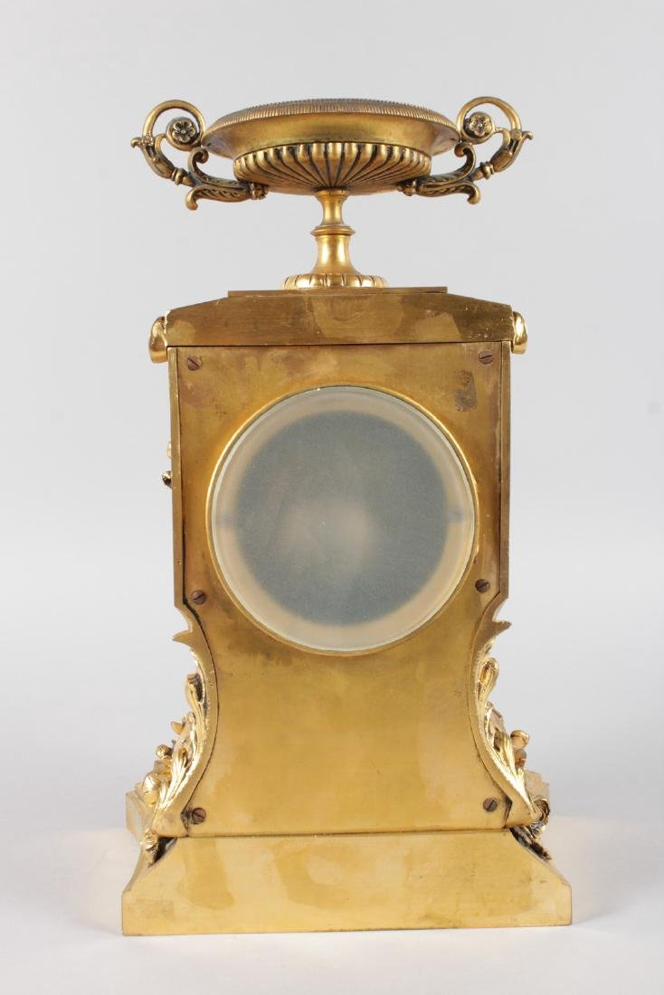 A SUPERB LOUIS XVI ORMOLU AND PIETRA DURA MANTLE CLOCK, - 9