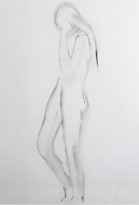 20th Century English School. A Standing Nude, Print,