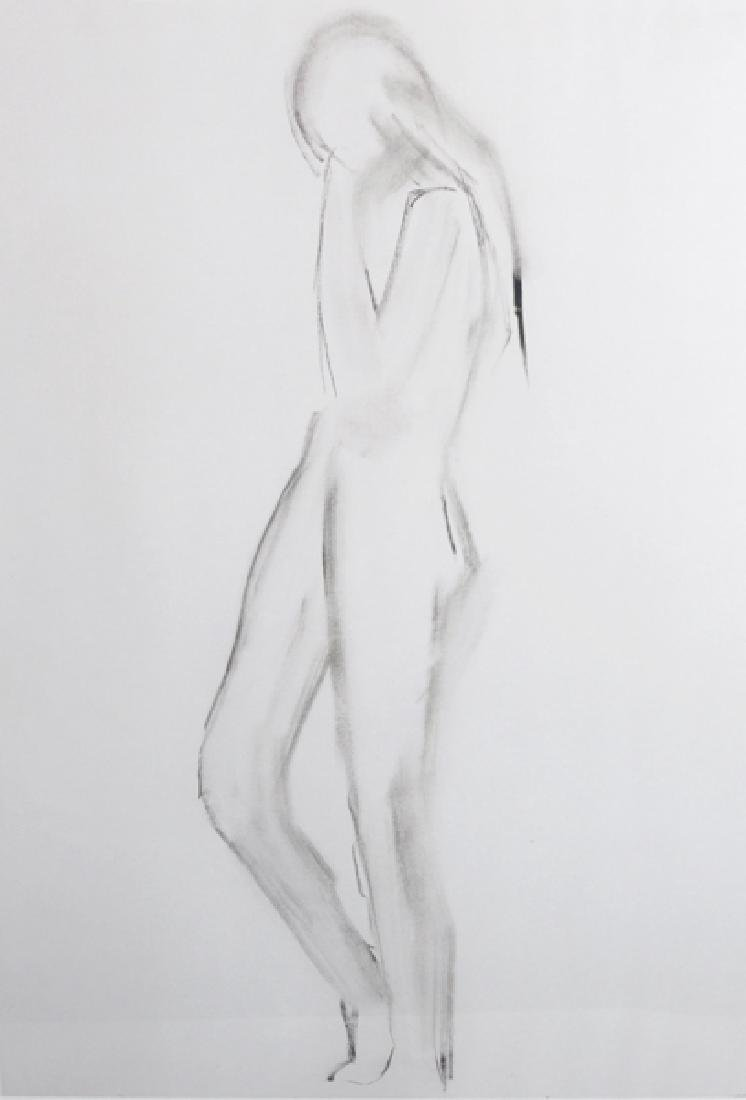 20th Century English School. A Standing Nude, Print,