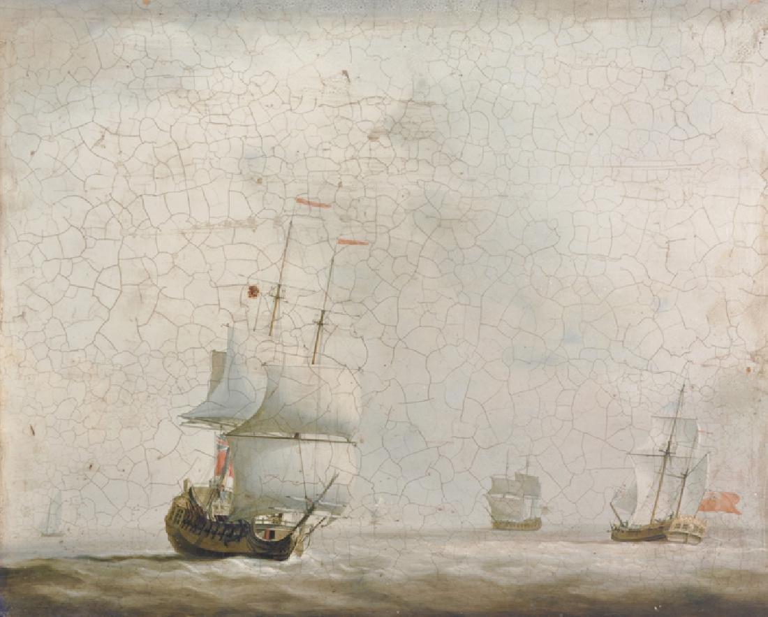 20th Century English School. A Shipping Scene, Print,