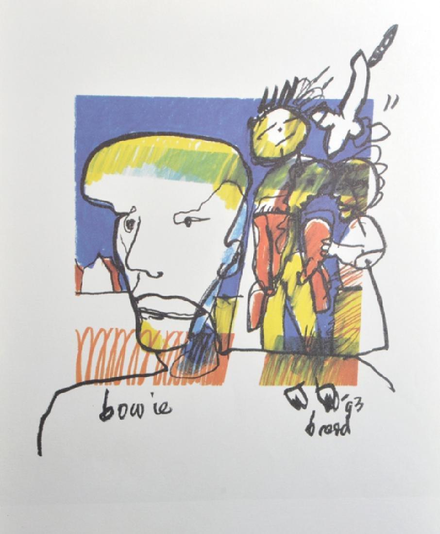"Herman Brood (act.1964-2001) Dutch. ""Bowie"", Print,"
