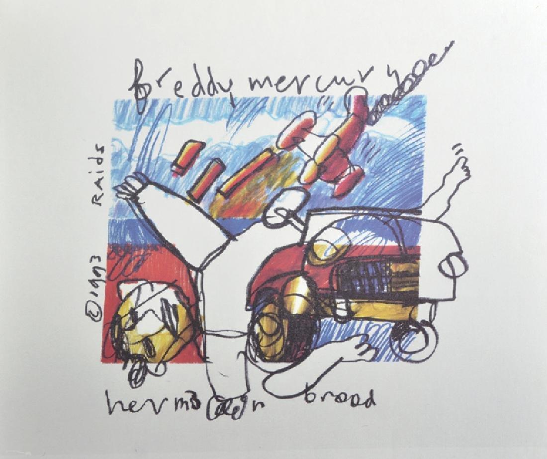 """Herman Brood (act.1964-2001) Dutch. """"Freddie Mercury"""","""