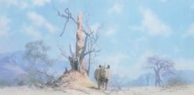 David Shepherd (1931-    ) British. A Rhino, Print,