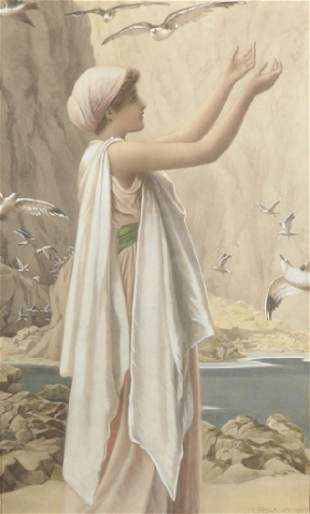 After Henry Ryland (1856-1924) British. 'A Girl with