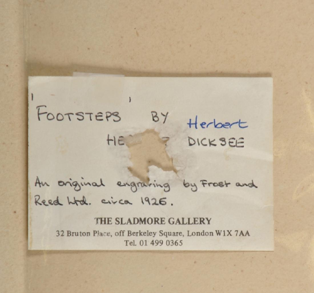 """Herbert Thomas Dicksee (1862-1942) British. """"Footsteps - 4"""