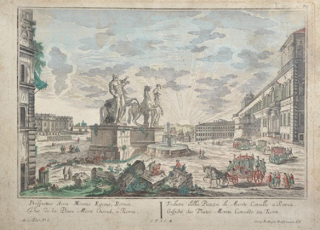 """Georg Balthasar Probst (1673-1748) German. """"Prospectus"""