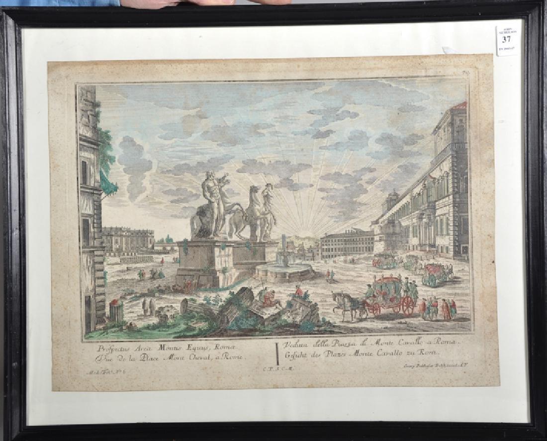 """Georg Balthasar Probst (1673-1748) German. """"Prospectus - 2"""
