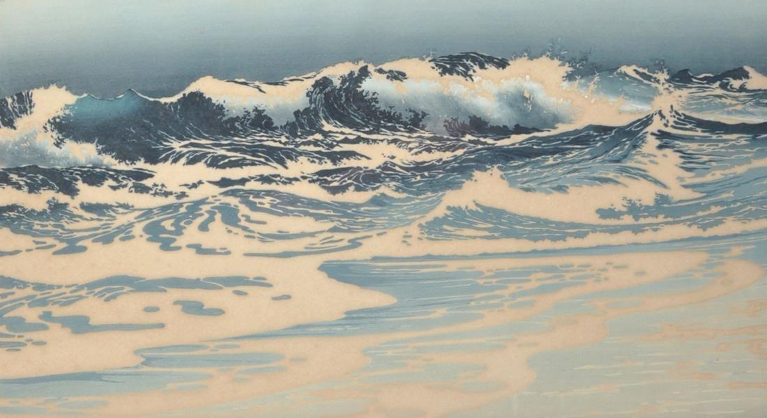 Oscar Droege (1898-1982) German. 'Breaking Waves',