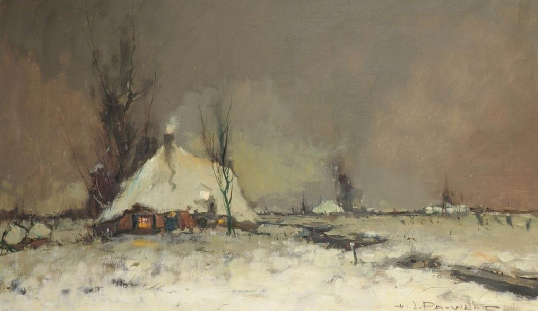 Henri Joseph Pauwels (1903-1983) French. A Snow Covered