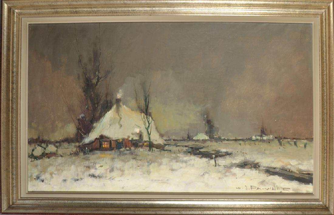 Henri Joseph Pauwels (1903-1983) French. A Snow Covered - 2