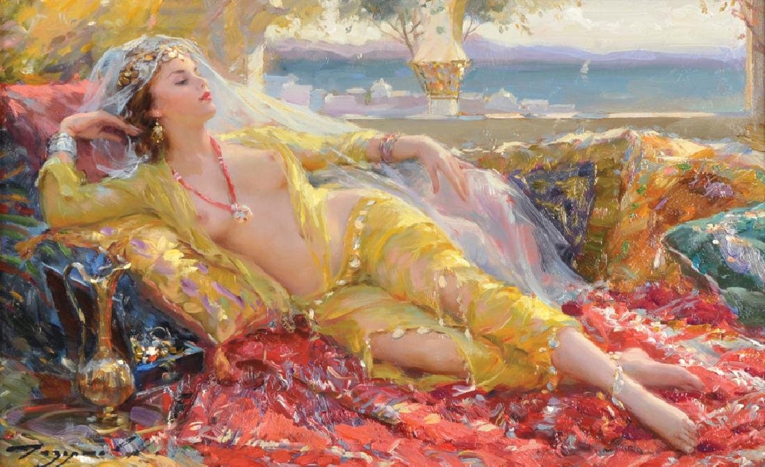 "Konstantin Razumov (1974-    ) Russian. ""A Day Dream"","