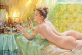 "Konstantin Razumov (1974-    ) Russian. ""Reflection"", a"