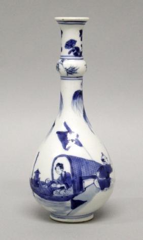 A GOOD QUALITY CHINESE KANGXI PERIOD BLUE & WHITE