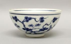 A GOOD QUALITY CHINESE YONGZHENG PERIOD BLUE & WHITE