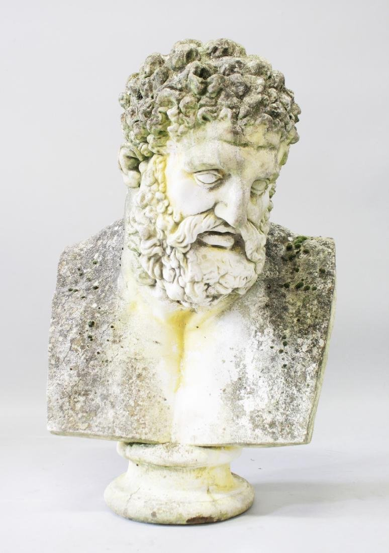 A GOOD BUST OF HERCULES, after the original in the