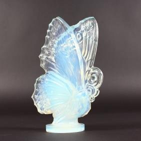 A SABINO IRIDESCENT CLOSED WING BUTTERFLY.  Etched